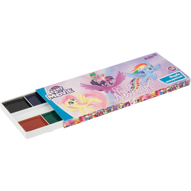 Краски аквар., картон.упак., б/п, 12 цв. LP