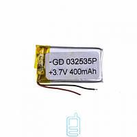 Аккумулятор GD 032535P 400mAh Li-ion 3.7V