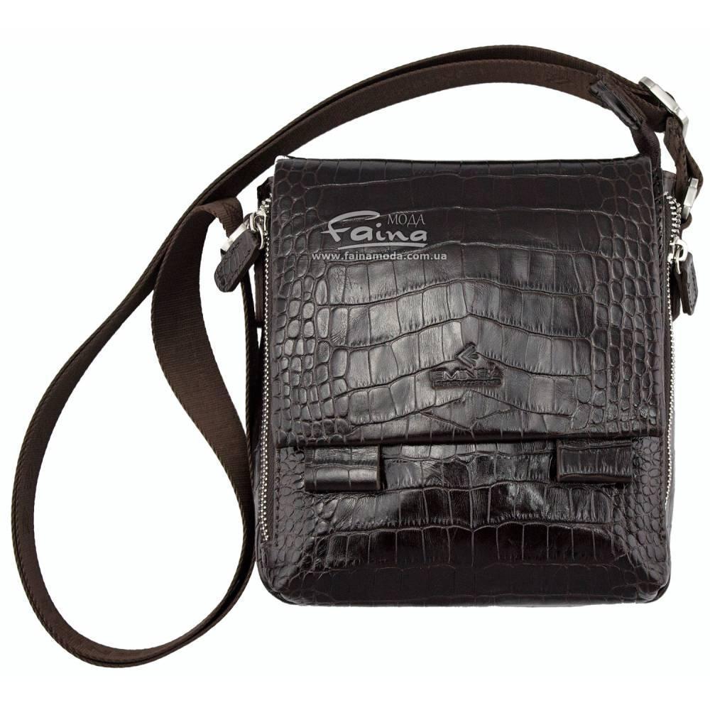 Мужская сумка кожаная коричневая Eminsa 6069-4-3  продаж d42ddd16bea37