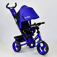 Трёхколёсный велосипед Бест Трайк Best Trike 5700 - 4560 синий. Поворотное сиденье. Колесо пена.