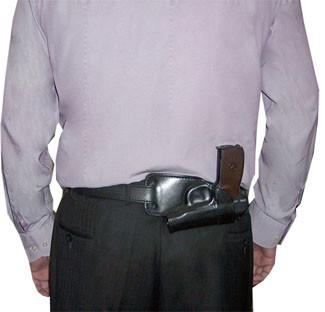 Кобура Медан 1112 поясная формованная трехслойная для ношения за спиной