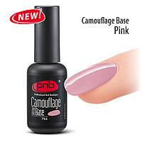 Камуфлирующая каучуковая база  PNB/ UV/LED Camouflage Base PNB, Pink, 8 ml