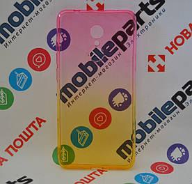 Оригинальный Чехол Силиконовый Gradient для Xiaomi Redmi 5 (Желто-розовый)