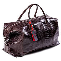 Сумка дорожная саквояж кожаный коричневый Eminsa 6545-4-3