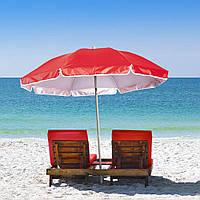Пляжный зонт с наклоном 2.0 Umbrella Anti-UV красный