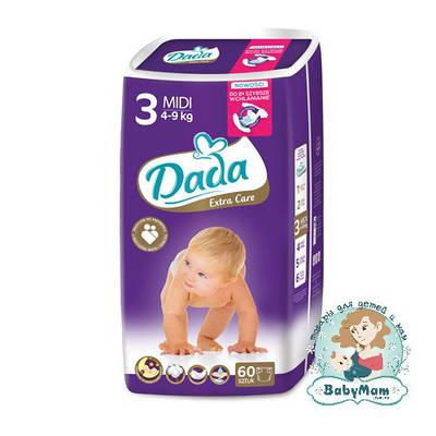 Подгузники Dada Extra Care Midi 3 (4-9 кг), 60 шт