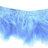 Перья Марабу декоративные на ленте Бледно-Голубые 20 см, фото 1