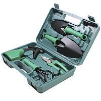 ➜Набор садовых инструментов ZHENJIE 5 в 1 для ухода за садом: 2 лопаты грабли ножницы опрыскиватель