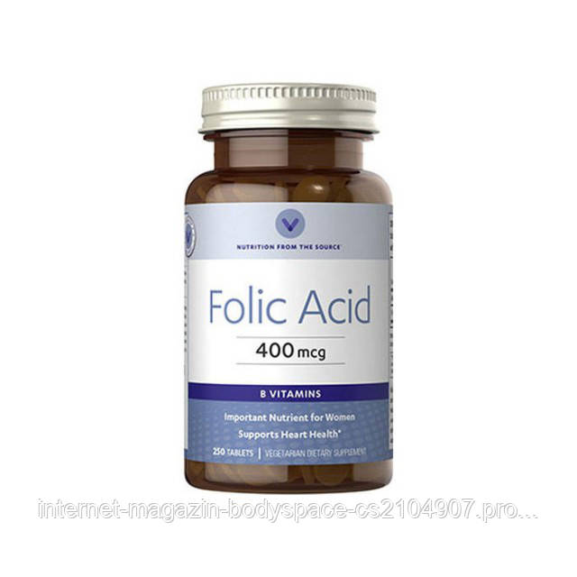 Vitamin World, Витамины Folic Acid 400 mcg, 250 таблеток