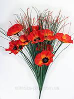 Искусственные цветы - Мак букет