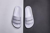 Мужские Шлепанцы Balenciaga Slippers white (реплика), фото 1
