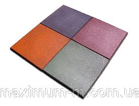 Плитка резиновая качественная 500х500х12 мм
