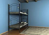 Двухъярусная кровать Диана черная 80*190 (Металл дизайн)