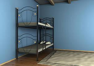 Двухъярусная кровать Диана черная 90*190 (Металл дизайн), фото 2
