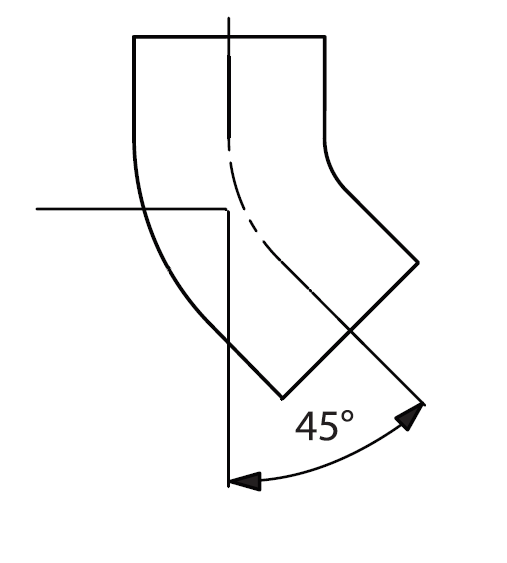 Отвод 45° Dn=150мм