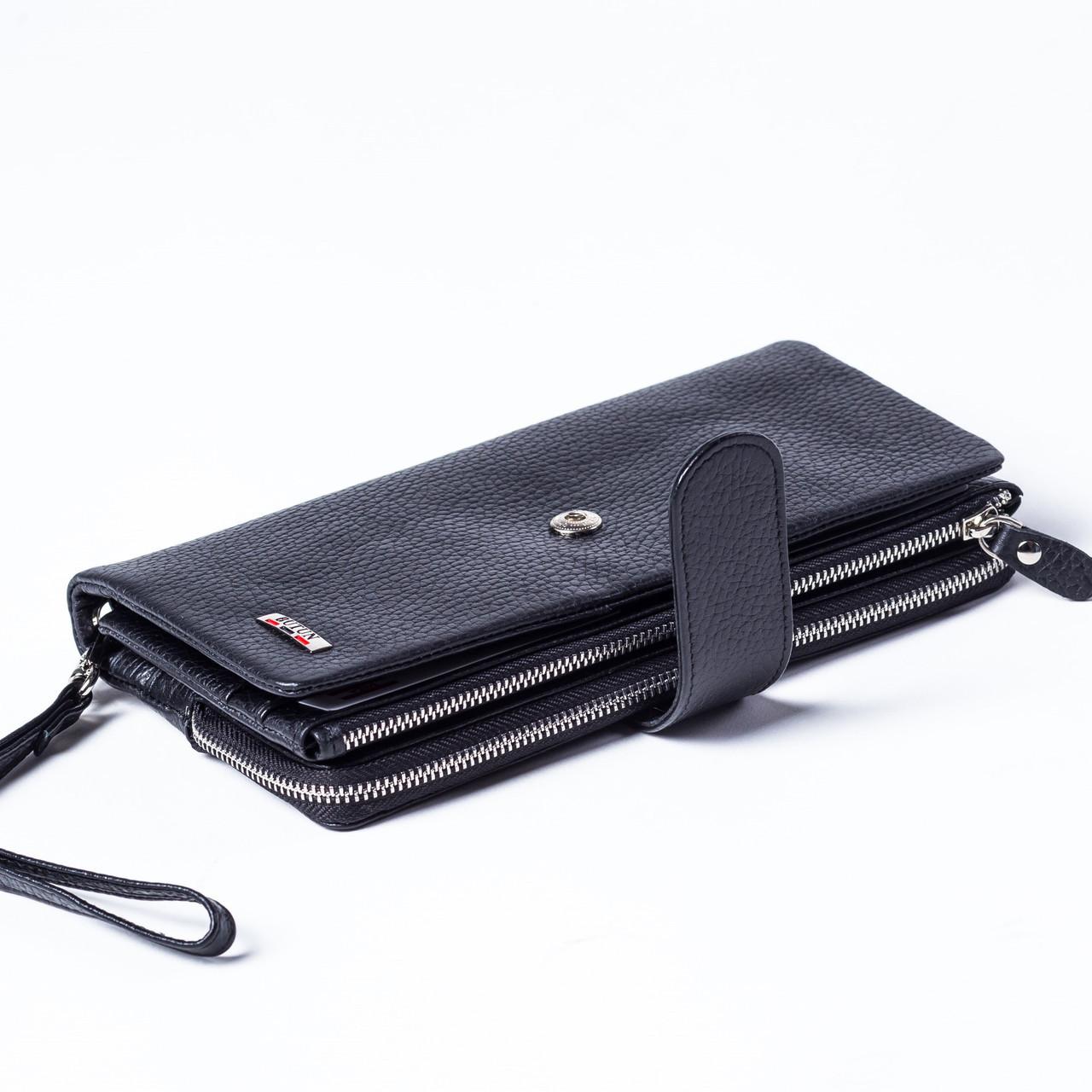 162a57002b7d Мужской кошелек клатч кожаный черный BUTUN 022-004-001 - Інтернет-магазин