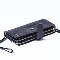 Женский клатч кожаный черный BUTUN 022-004-001