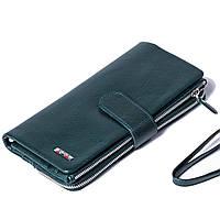 Женский клатч кожаный зеленый BUTUN 022-004-009
