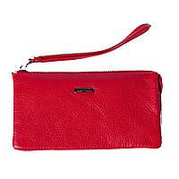 Женский клатч кожаный красный Butun 662-004-006