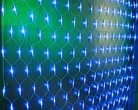 Новогодняя гирлянда сетка LED 140 диодов 2х1.5м на окно: 3 цвета в ассортименте