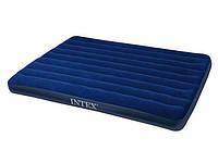 Надувной ортопедический двуспальный матрас-кровать intex 68759 (152x203x22 см) hn ri KK