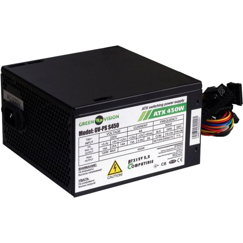 Блок живлення 450W GreenVision GV-PS ATX S450