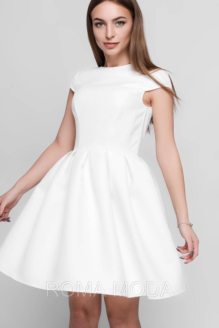 Платье женское белое нарядное KP-5935-3