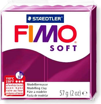 Полимерная глина Фимо Софт Fimo Soft 56г Королевский Фиолет Royal Violet, №66