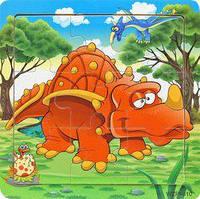 Деревянные Пазлы Животные Большие Деревянный Пазл Динозавр WZP-805, 008428