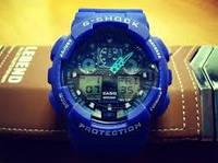 Мужские часы Casio G-Shock GA 100 Blue(реплика)