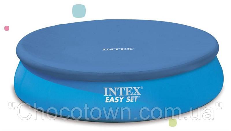 Тент защитный для надувного бассейна диаметром 244 см intex 28020 ri, кк hn