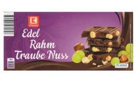 Шоколад K Classic Edel Rahm Traube Nuss молочный 200г
