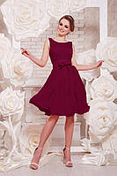 Нарядное платье бордового цвета