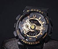Часы спортивные  CASIO G - SHOCK GA 110 Black Gold(реплика)