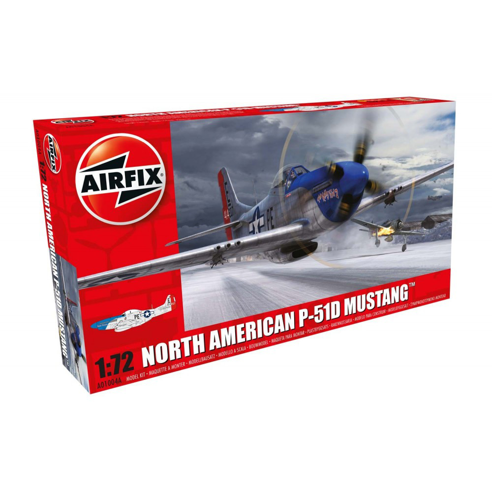 P-51D MUSTANG NORTH AMERICAN. 1/72 AIRFIX 01004