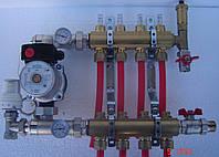 Коллектор (гребенка) Karro в сборе на 4 вывода с расходмерами