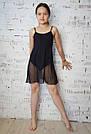 Купальник-туника для танцев и балета черный, фото 3