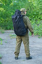 Тактическая транспортная сумка-баул мешок армейский Trend черный на 100 л с Oxford 600 Flat
