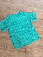 Блуза для девушек нарядная ажурная (44-48)