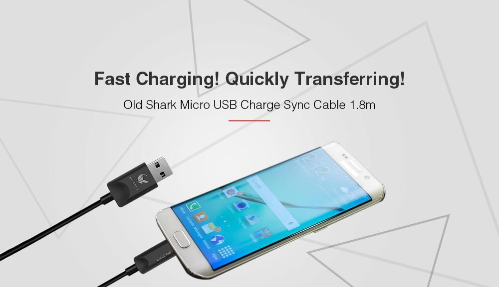Кабель Micro USB Old Shark для зарядки і синхронізації 480Mbps. Довжина 1.8 м