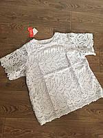 Блуза женская на лето с коротким рукавом (44-48)