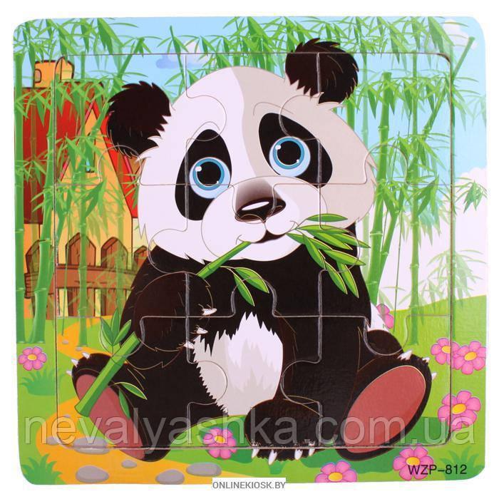 Деревянные Пазлы Животные Большие Деревянный Пазл Панда WZP-805, 008428
