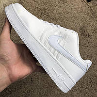 Кроссовки мужские Nike Air Force 1 Flyknit Low White