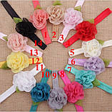 Детская повязка сиреневая - размер универсальный (на резиночке), размер цветка 5,5см, фото 4