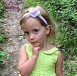 Детская повязка сиреневая - размер универсальный (на резиночке), размер цветка 5,5см, фото 2