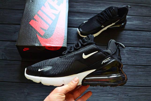 Мужские кроссовки Nike Air Max 270 Black-White/ Реплика 1:1/ ТОП МОДЕЛЬ ВЕСНА 2018, фото 2