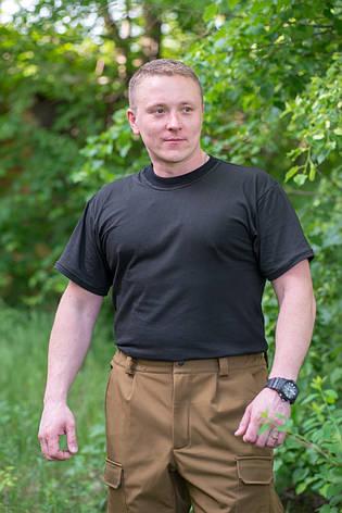 Футболка трикотажная (черная), фото 2