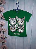 Футболка детская Cat 92-116 см, фото 1