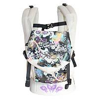 Эргономичный рюкзак Sunny Бабочки, с ушками (лен с хлопком), фото 1