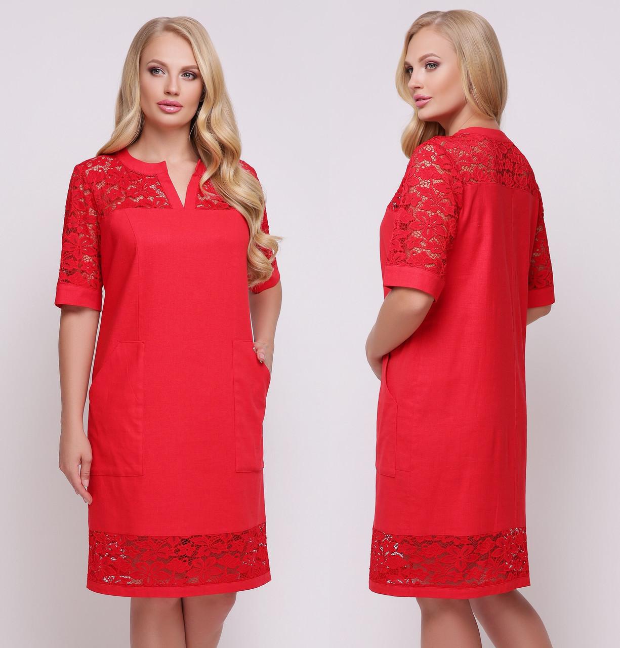 ddef0d622eb Купить Льняное платье больших размеров женское прямое летнее лен с ...